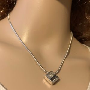 Chanel silver 925 necklace